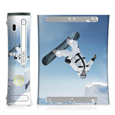 DeinDesign Skin kompatibel mit Microsoft Xbox 360 Aufkleber Folie Sticker Snowboard Snow Schnee