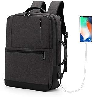 Backpack Business Laptop Travel Large Capacity Bag with USB Port - Black