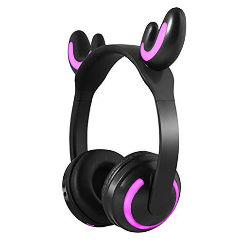 QLMY Active Noise Cancelling koptelefoon Élégant Monster Cartoon dragen een bluetooth hoofdtelefoon zachte oorkussens Stereo veilig lopen Yoga vliegreizen