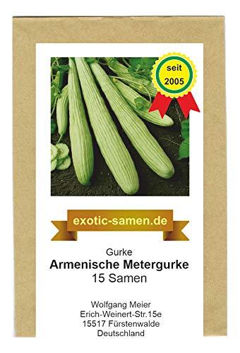 Gurke - Cucumis melo flexuosus – resistent - Armenische Metergurke - 15 Samen