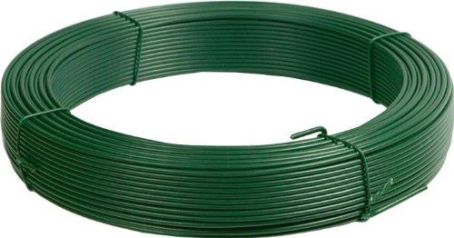 Papillon 092920 fil plasticato, vert papillon en rouleau de 25 kg, ø 3.1 mm