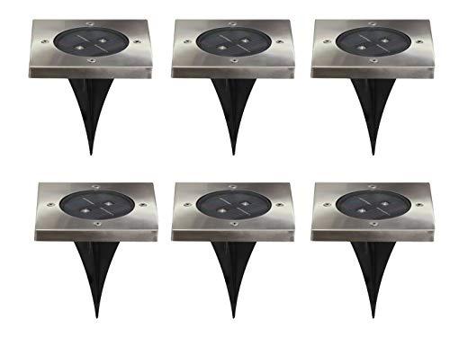Ranex 6er-Set LED Solar Bodeneinbaustrahler TORINO, 4-eckig, IP44; 5000.406