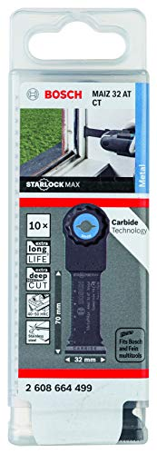 Bosch Professional 2608664499 Lama per Sega a Immersione MAIZ 32 AT MetalMax (per Metallo temprato, Starlock, 70 x 32 mm, Accessori Multifunzione)