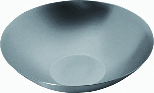 Mepra 23056032S Uno Ice Round Bowl – 32 cm Brushed Steel Bowl, Silver Finish, Dishwasher Safe Serveware