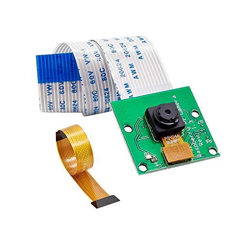 KEYESTUDIO Raspberry Pi Telecamera Modulo Telecamera 5mp Sensore 1080p per Raspberry Pi 4 Modello A,B, B +, Modello 2, Zero