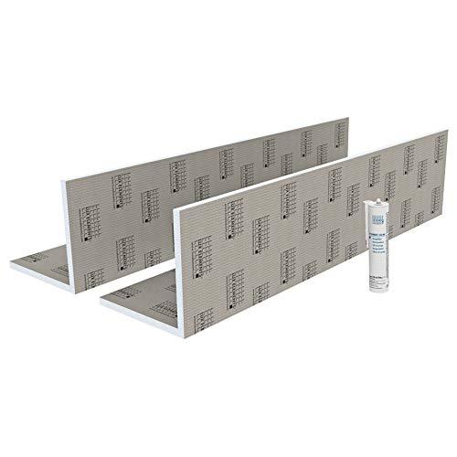 LUX ELEMENTS Rohrkasten Fertig zum Verfliesen, TEC-KA 30 Set LTECX6003, Grau, 30 x 30 x 250 cm