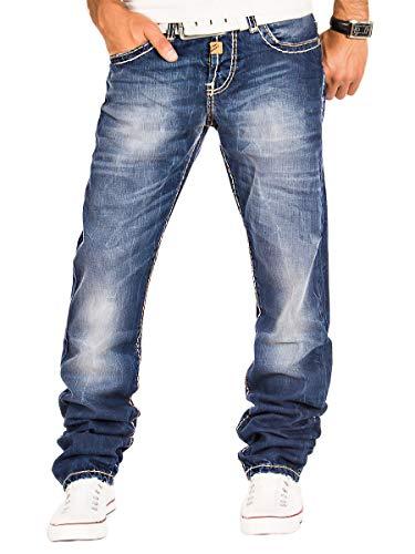 Cipo & Baxx Herren Jeans Hose Denim Jeanshose (Blau 1, W40/L36)