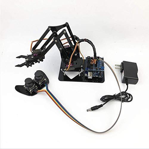 Full Metal-Roboterarm-Kit-Roboterarm-Arduino-Gebäude-Set Mit MG996 Servo- Und Knopfkontrolle, DIY-Montage-Modell-Pädagogische Kit Für Erwachsene Und Kinder