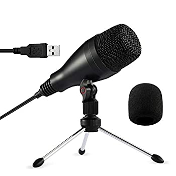 Moukey USB Microphone - Condenser Recording Mic for Podcast YouTube Studio Streaming Podcast Microphone with Tripod Stand & Mic Cover Gaming Microphone for Computer -Windows or Mac  Mum-1