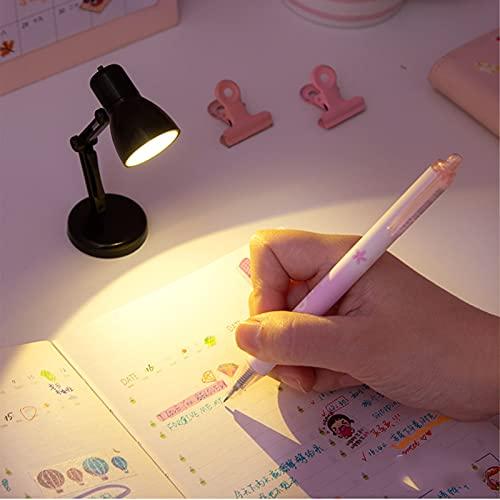 SJHP Luz de Lectura Lámpara de Lectura Clip Camas 180° Flexible Lampara de Lectura Pinza 8 Horas de Duración para Lectores Noche E Reader Libro PC y Tablet