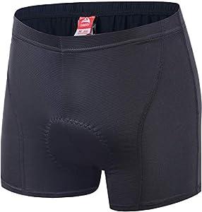 Pantalón de ciclismo para hombre Ally con acolchado 3D Coolmax, ropa interior, pantalones cortos