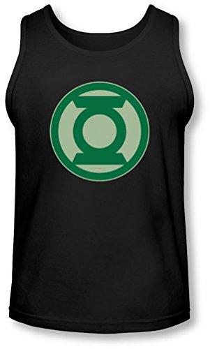 Green Lantern - - Symbole vert Tank-Top pour hommes, Small, Black