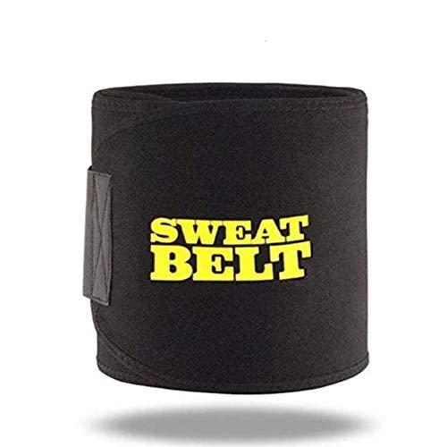 virtual World Sweat Waist Trimmer Fat Burner Belly Tummy Waist Sweat Belt/Adjustable Sweat Belt/Premium Waist Trimmer for Men & Women +D