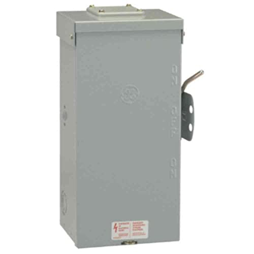 ge tc10324r 3 wire 2 pole non-fusible emergency power transfer switch 240  volt ac
