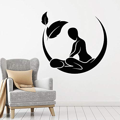 Tianpengyuanshuai Wandtattoo Massage Salon Spa Schönheit Gesundheitsbehandlung Dekoration Aufkleber wasserdichte Kunst 50X52cm