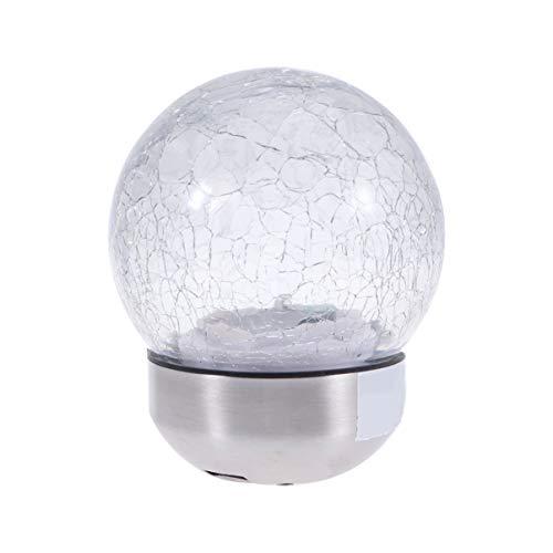 Mobestech Solarlampen-Verband-Knistern-Ball-Solarlichter im Freien für Garten-Geländer-Zaun Courtyard Patio Decoration