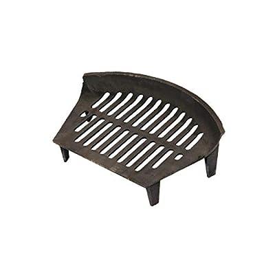 """Oypla Open Fire Grate 16"""" Cast Iron Heavy Duty Log Coal Wood"""