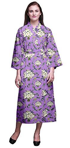 Bimba Amatista Floral Corona de Flores de jazmín árabe Albornoz Estampado para niñas Batas de baño de Kimono para Mujer Bata de baño Larga Nupcial X