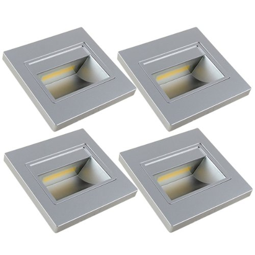 MENGS Paquete de 4 Bombilla LED 1W COB Lámpara LED, Equivalente 8W Halógena lampara LED, Blanco Cálido 3000K, AC 110V-260V, 120LM luces LED