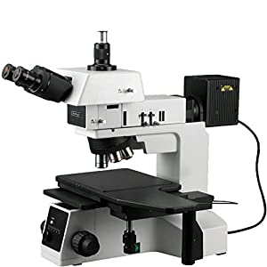 AmScope ME600TZB Episcopic Trinocular Metallurgical Microscope, 50X-2000X Magnification, PL10x...