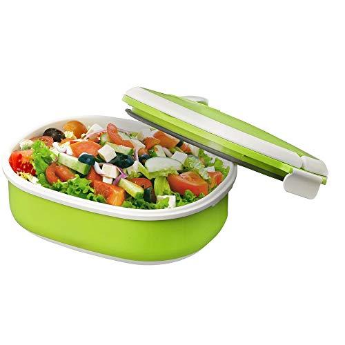 Styletec Lunchbox/Brotdose mit Schnappverschluss - luftdicht + microwellengeeignet (grün)
