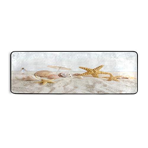 Lerous Runner Alfombra de pasillo y pasillo de playa, moderna antideslizante, alfombra de pasillo, alfombra de cocina para dormitorio, sala de estar (2 x 6 pulgadas)