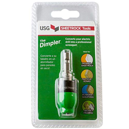 USG Sheetrock 'The Dimpler' Drywall Screw Setter Bit - Reversible with Clutch