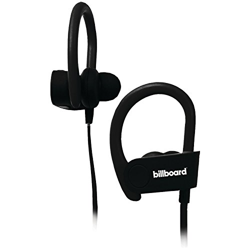 Billboard BB896 Bluetooth Earhook Headphones Mic Remote Black