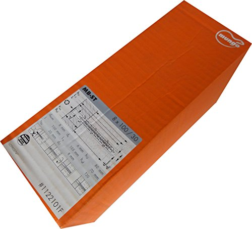 MUNGO MB-ST 8x100 ST Universal-Fassadendübel mit Senkschraube verzinkt, 100 Stück,1122101