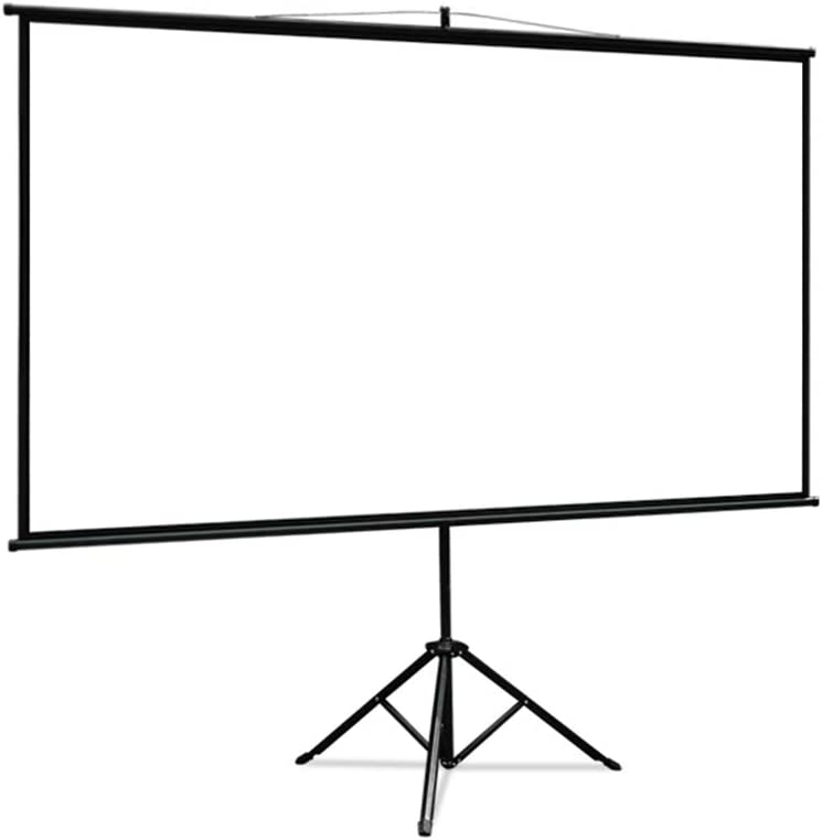LHSG Projection Screen with Stand, Wall-Mounted Projector Screen Screen for School Home Theatre Cinema, Portable Projection Screen HD Foldable and Easy to Install