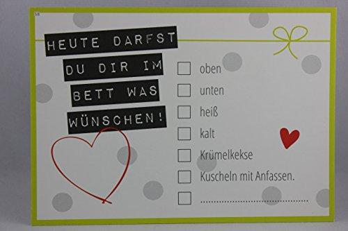 sheepworld, Gruss & Co - 80058 - Postkarte, Ankreuzkarte, Nr. 58, Heute darfst Du Dir im Bett was wünschen!