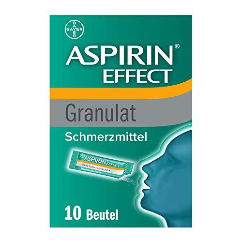 Aspirin®EffectGranulat, schnelle Hilfe beiKopfschmerzen, Einnahme ohne Wasser, perfekt für unterwegs, 10Stück