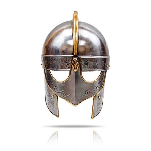 IOTC Viking Wolf Helmet Premium Steel Armor Helmet Crusader Handcrafted