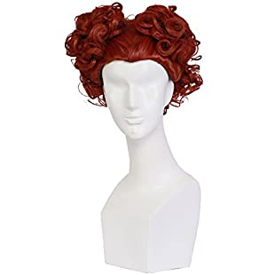 Xcoser Halloween Witch Wig Women Short Curly Hair Adult Cosplay Costume Accessories for Film Fancy Dress Clothing Merchandise:Superclub