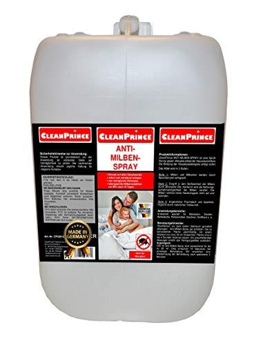 CleanPrince 2 Liter Anti-Milben-Spray: Ungeziefer im Bett Milbenspray Anti Milbe Milben Milbenex Milbenentferner Matratzen Reiniger Reinigung Hygiene gegen Milben Bettmilben Bettwanzen Wanzen Ungeziefer Milbenex Milbenmittel Allergiker Allergie Hausstaub Hautschuppen