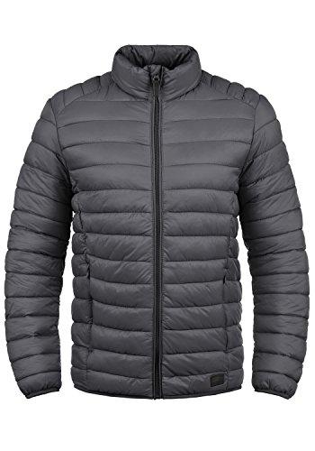 Blend Nils Herren Steppjacke Übergangsjacke Jacke mit Stehkragen, Größe:L, Farbe:Ebony Grey (75111)