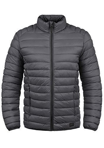 Blend Nils Herren Steppjacke Übergangsjacke Jacke mit Stehkragen, Größe:S, Farbe:Ebony Grey (75111)