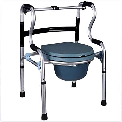 RRH-Bathroom Wheelchairs Bedside Commodes Wheelchairs Commode Chair Bedside Commodes Bath Shower Toilet Seat Adjustable Height Multifunctional Professional Medical Rehab Chair,Elderly &Amp Bathroom Wh