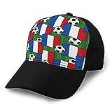 Gorras de béisbol Unisex Ajustable Liso Papá Sombrero Gorra para el Sol Francia patrón de fútbol Gorra Lisa