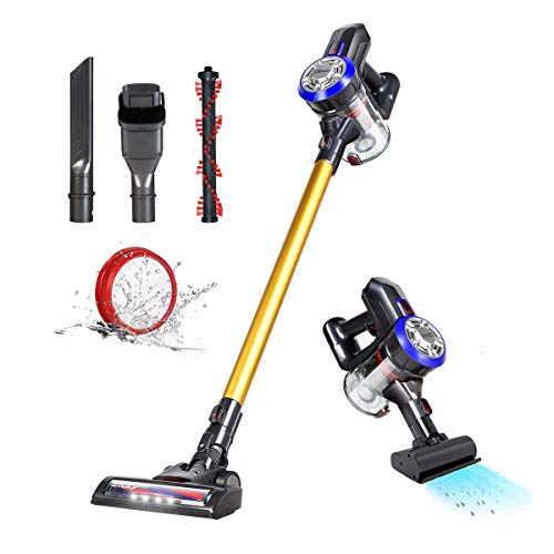 dibea 5 in 1 Motorhead Cordless Vacuum Cleaner,12000Pa Upright Handheld Stick Vacuum with LED Light for...