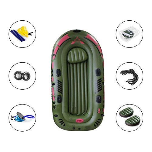 Inflatable Kayak Boats, Thicker Fishing Touring Whitewater Kayaks for Adults Fishing, 1 Person Canoe Fishing Boat Inflatable Boat Set