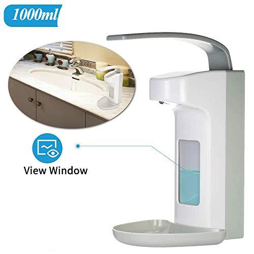 Konesky 1000ml Manueller Seifenspender Wandspender Seifenspender Desinfektionsspender No Touch Kunststoff Dosierpumpe für das Zuhause Büro Schule Krankenhaus (A)