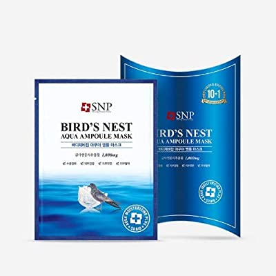 [SNP Cosmetic] Bird's Nest Aqua Ampoule Mask (10ea (Box Case)) by My Beauty Diary by SNP