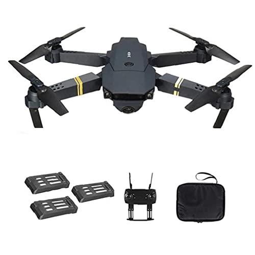 Runfon Drone Quadcopter E58 WiFi FPV Mini Quadcopter 4k Fotocamera Pieghevole Drone Supporto di Ritorno Automatico con 3batteries