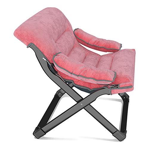 GXYAS Reclinable al Aire Libre,Sillones de Oficina, sillas Plegables,Sillón reclinable Plegable Almuerzo Siesta Silla Balcón Hogar Plegable Respaldo Silla portátil