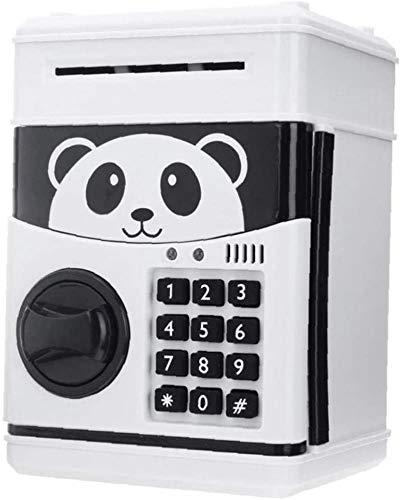 Decoración de la casa higgy Bank inquebrantable Panda Piggy Bank Password Money Billetes de banco Ajuste Dibujos animados Animales Coin Colección Jar para niños dibujos animados caja de banco caja de