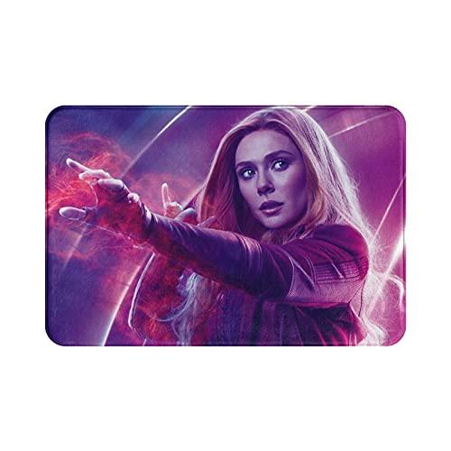Avengers Wanda - Alfombra suave y cómoda para sala de estar y dormitorio, hecha de tela de franela de alta calidad, 39,9 x 59,7 cm