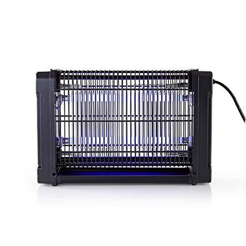Nedis - Lichtval tegen muggen - Elektrische insectenlamp - 16W - Twee UV-A-lampen - Dekking van 50 m² - Milieuvriendelijk en veilig - Verwijderbare Verzamelbak