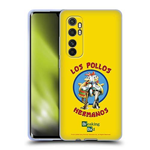 Head Case Designs Licenciado Oficialmente Breaking Bad Los Pollos Hermanos Gráficos Carcasa de Gel de Silicona Compatible con Xiaomi Mi Note 10 Lite