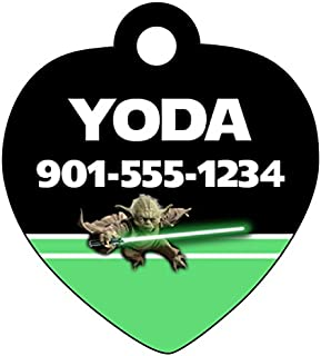 uDesignUSA Disney Star Wars Custom Pet Id Tag for Dogs & Cats Personalized w/Your Pet's Name & Number